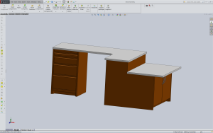 SolidWorks Designed Desk 3D model ready from fabrication