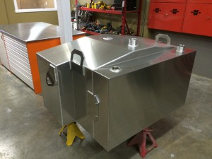 Finished fabricated tank