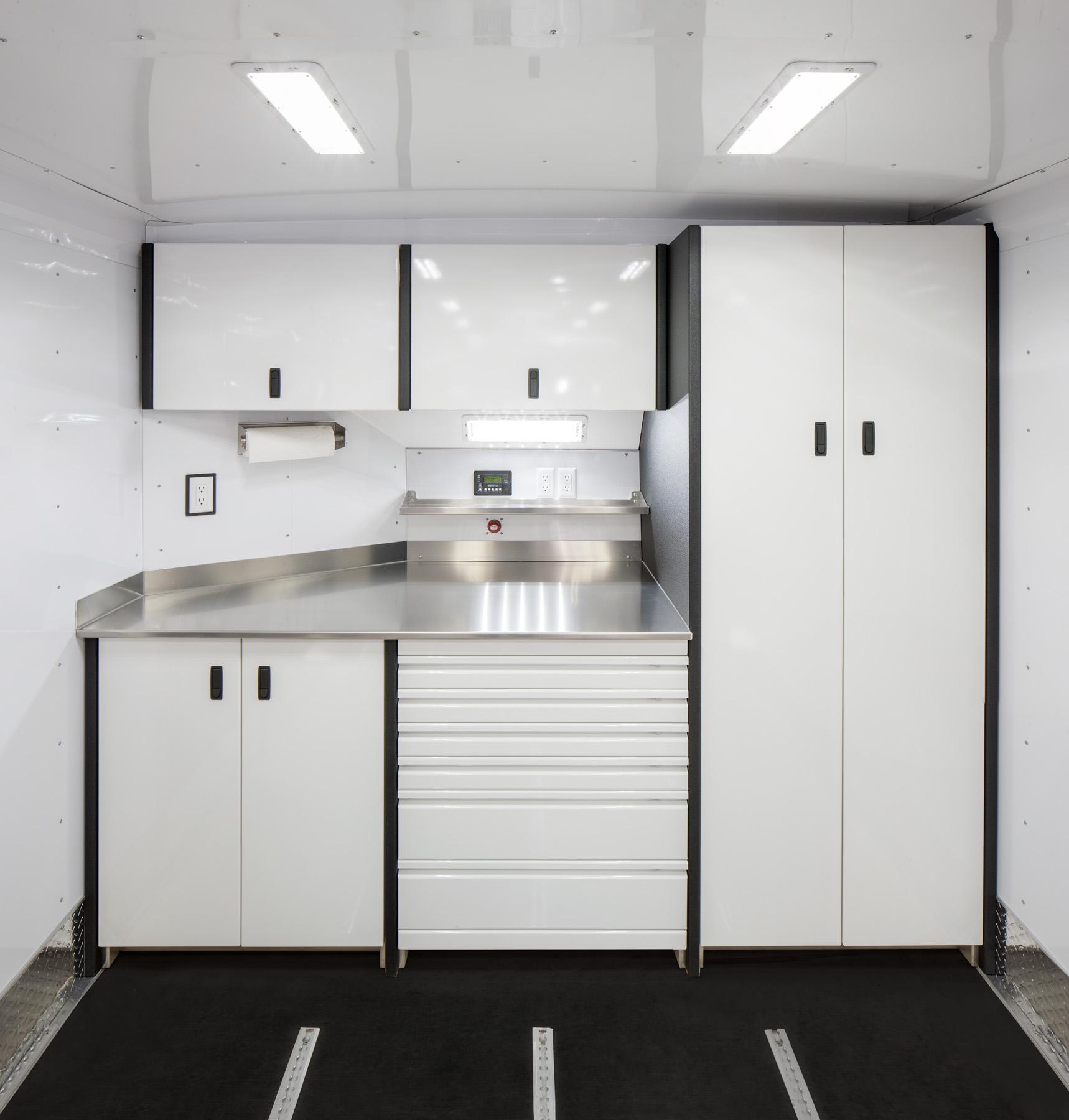 Trailer Aluminum Cabinets